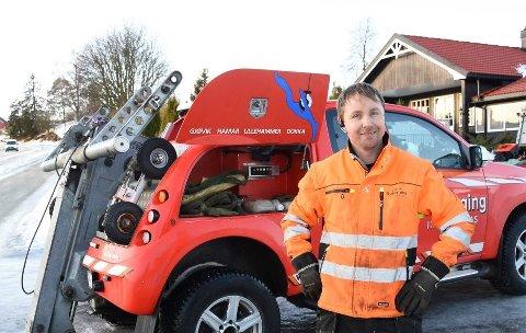 BILBERGER: Leif Andre Larsen. Bildet er tatt i januar 2020 under en berging i Langbakken i Furnes.