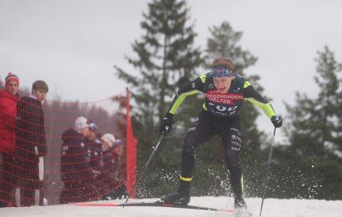God: Jonas Vika leverte godt under helgas norgecup i Holmenkollen. Han er nå klar for junior-VM i langrenn i Tyskland som starter i slutten av februarFOTO: Erik Borg