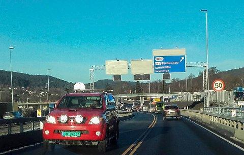 E16 ved Kirkerudbakken i Bærum er lagt om på ny veitrasé.