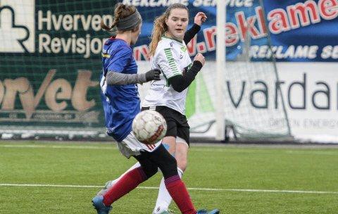 Maja Tryterud var veldig god mot Vålerengas 2. divisjonslag. HBK vant 7–2.