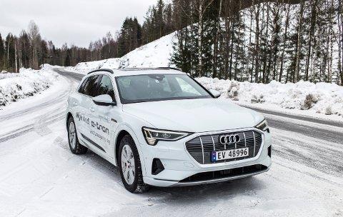 Audi: Modellen e-tron har elmotorer og hengerfeste.
