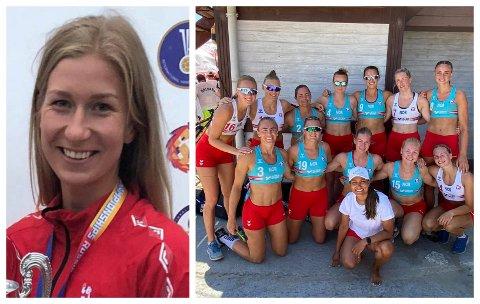 I BULGARIA: Marielle Martinsen og resten av det norske landslaget.