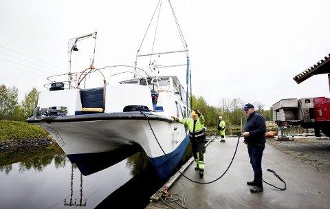 Sjøsatt: MS Øyeren ble sjøsatt tidligere denne uka. I helga er den klar for første tur for sesongen.