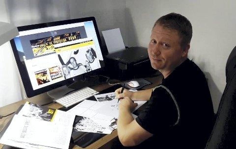 Tegneserie: Ivan Emberland har lang erfaring med å produsere tegneserier.
