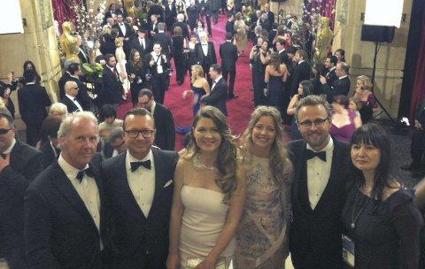 PÅ OSCAR-UTDELING:  I 2013 ble Espen Sandberg og Joachim Rønnings «Kon-Tiki» Oscar-nominert. FOTO: PRIVAT