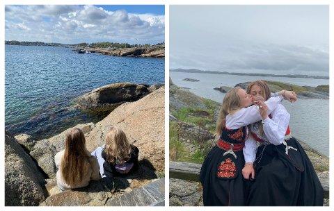 SPESIELL UKE: Kristine Flåto Eilertsen og venninnen Marte Vike er to av jentene som ser tilbake på en tid med opp- og nedturer, og ikke minst 17. mai-feiring på en øy.