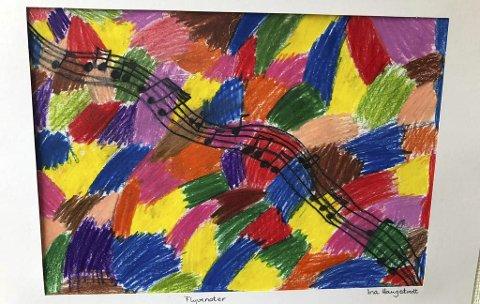 Flotte farger: Bildene stilles ut på lik linje med profesjonelle utstillinger. Denne erlaget av Ina Haugstvedt.