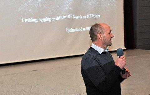 NESVIK OG HYDRA: Sigvald Breivik kunne røpa namna på dei nye ferjene i Hjelmeland-sambandet, og fortalde korleis dei møter tryggleiksutfordringane.