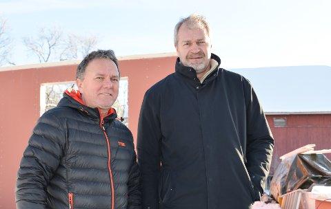BOLIGSELSKAP: TVB Bolig AS har lagt bak seg et godt år.. Her Morten Hogstad og Ole Gunnar Thommesen som er både eiere og ansatte i selskapet.