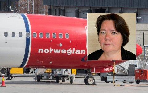 Bente Sundlo har bestemt for å aldri mer fly med Norwegian etter en nylig flytur fra Gardermoen via London til Orlando i Florida. Foto: Vidar Ruud / NTB scanpix / privat
