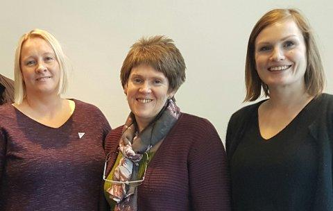 Yvonne Wold, Ingrid Opedal og Marit Aklestad.