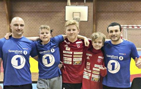 I DanmarK: Vadym Kovalenko, Bastian Taknæs, Barnabas Tolnai, Hermann Skog Hansen og Nikolay Arama.