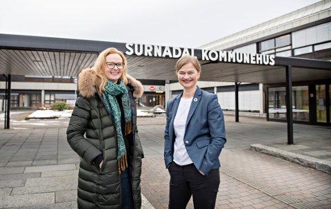 Begeistret ordfører: Eirin Kalstø, leder i Horisontprogrammet i Pipelife og Margrethe Svinvik, Surnadal kommune