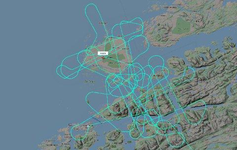 Dette flyet skapte litt undring blant innbyggere i Aure, Smøla, Kristiansund og Halsa onsdag.