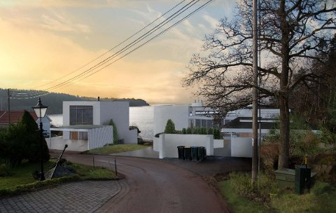 NYTT OG MODERNE: Seniorrådgiver Harald Svendsen hos Breili & Partnere mener disse bygningen er godt tilpasset miljøet i Nestvik.