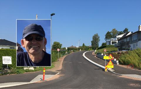 HØYERE FARTSGRENSE: Første skoledag ble det satt opp høyere fartsgrense i Ulvikveien på Husvik.
