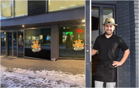 ÅPNER I TØNSBERG: Hazem Tareq (på bildet) og Martin Axa står bak det nye restaurantkonseptet, som snart åpner i Tønsberg. Her fra virksomheten i Sandefjord.