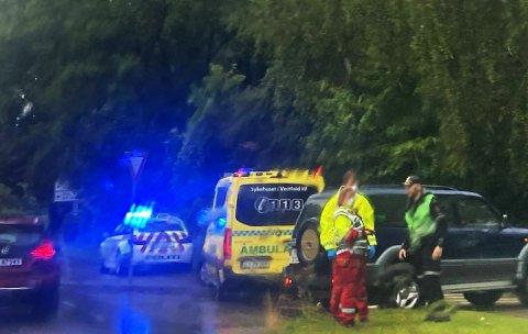 ULYKKE: Trafikkulykke med fire personer involvert.