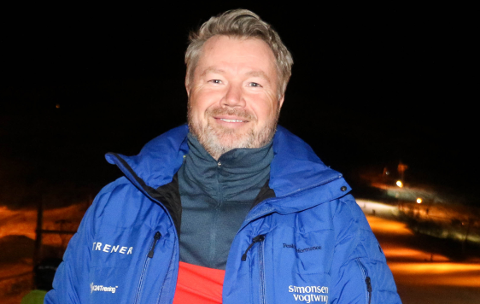 VINTER: Tromsø alpinpark har hatt sesongkort-kampanje den siste tiden. Det har vært en stor suksess. Her er daglig leder Jon Håkonsen.
