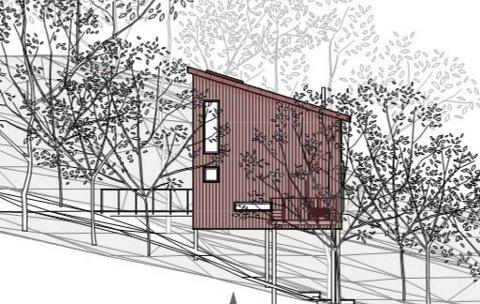 FUGLEKASSEHYTTE PÅ PÅLER:  Tretopphytta som grunneieren søker om å få bygge er på 45 kvadratmeter – inkludert uteområde – og skal ligge i nærhet til gården i Lorvika ved Børgin sør i Steinkjer kommune.