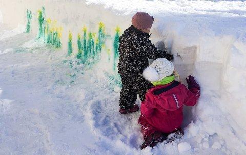 Kreative små i Ljøstadsaga barnehage.