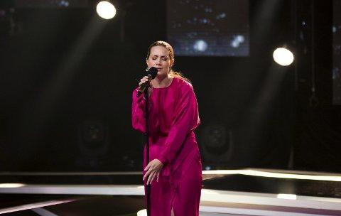 I aksjon: Eva Lunde i aksjon under innspillinga av «All Together Now». Tirsdag vises opptredenen på TVNorge. Pressefoto: TVNorge