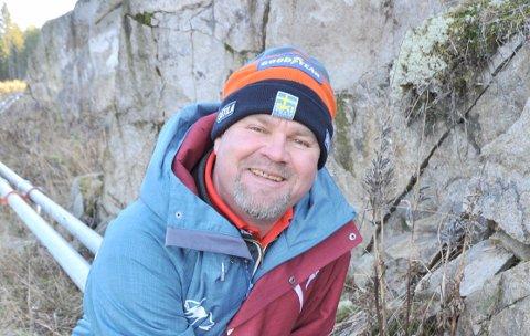 FÅRSTØTTE:Daglig leder Richard Palmgren i Varingskollen Alpinsenter ser lyst på å kunne åpne for en ny sesong i november.