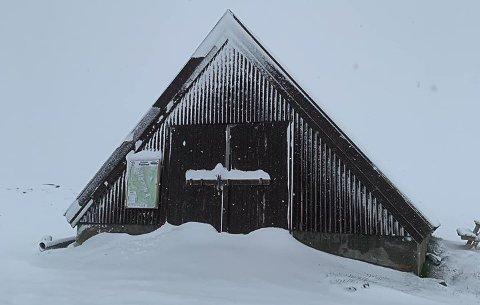 MYE SNØ: Snøen lå på Flattron om morgenen 4. juli 2019.