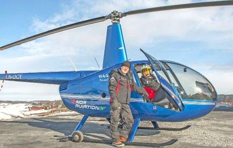I BEREDSKAP: Daglig leder Ole-Petter Berger i Nor Aviation har helikopter og mannskap i døgnberedskap på Holstad.