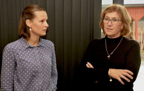 Inger Helene Hagen Sira (t.v.)  og Unni Grinde.