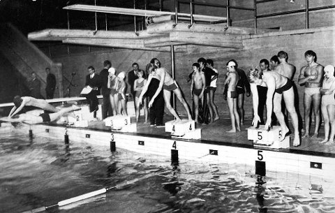 Bodø svømmehall like etter at den ble tatt i bruk på slutten av 60-tallet.