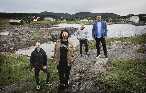Familieprosjekt: Kenneth, Tone, Kriss og Ole Kristian Bodøgaard ønsker å presentere planene familien har for området i Bodøsjøen samt familien eiendommer i Maskinisten.