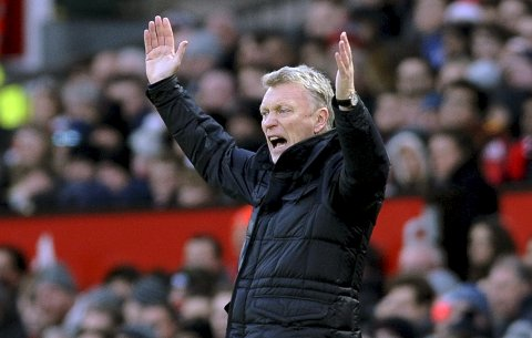 FILE - In this file photo dated Monday, Dec. 26, 2016, the then Sunderland manager David Moyes reacts during the English Premier League soccer match between Manchester United and Sunderland at Old Trafford in Manchester, England.  West Ham is in turmoil on and off the field with team in the Premier League?Äôs relegation zone and the fans showing open disenchantment. The arrival of David Moyes as the new manager has done nothing to improve the atmosphere at the club. West Ham lost 2-0 at Watford on Sunday Nov. 19, 2017, in Moyes?Äô first game in charge since replacing Slaven Bilic.(AP Photo/Rui Vieira, File)