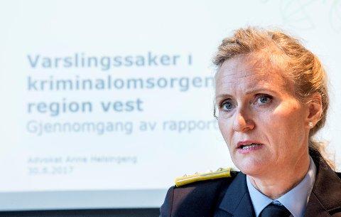 Direktør i KDI, Marianne Vollan, understreker at hun legger rapporten til grunn for det videre arbeidet i region vest.