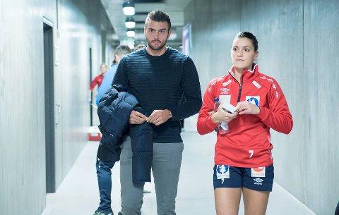 Eivind Tangen og Stine Skogrand  venter sitt første barn. (Arkivfoto: Magne Turøy)