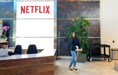 Mari kan fortsatt ikke tro det er sant at hun har fått jobb i Netflix. I løpet av mai måned skal hun besøke kontoret i Los Angeles, hvor selskapet selv driver med produksjon av egne serier og filmer. (Foto: Privat).
