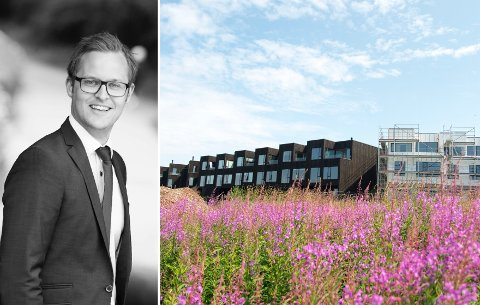 Petter Løberg Klavenes sier at salget av boliger på Valen går veldig bra