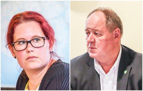 TRIST OG LEIT: Bente Gravdal (Ap) og Leif Erik Egaas (H) er enige; det er leit at næringslivsaktører omtaler Eigersund kommune som en nei-kommune.