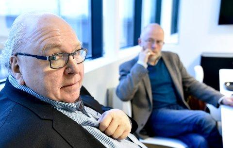 I BRESJEN: Forretningsmann Terje Stykket (t.v.) og dialogprest Ivar Flaten tok initiativet til Internasjonale Drammen.