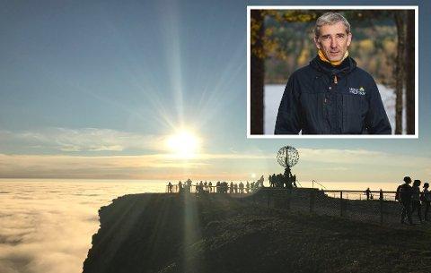 MANGLENDE OPPLYSNING: Lasse Heimdal i Norsk friluftsliv vil at Scandic opplyser bedre om at det er gratis å besøke Nordkapplatået.