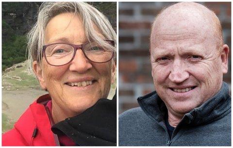 ORIENTERTE: Prosjektleiar Marit Elisabeth Larsen og administrerande direktør Inge Bent Arnestad jobbar på spreng med planene om biogassanlegg. Dei skal leggast fram for styret i september.