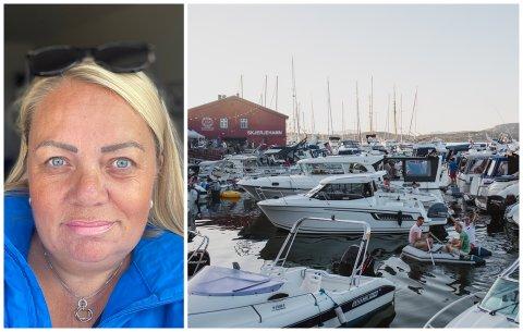 Om sommaren er det hundrevis av besøkande innom øya dagleg. Derfor ønsker vertinne Nina Kirca og Skjerjehamn AS å tilsette fleire i sommarmånadane. Bildet er frå Utkant 2019.