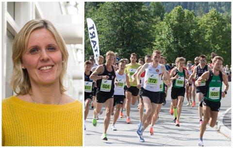 GAV: Paula Kathrine Lesto og Jølster Maraton kunne overføre rekordmykje pengar til Aktiv mot kreft.