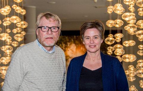 Olav Kolstad, leder i LEVE-Østfold og  og generalsekretær i LEVE Norge, Terese Grøm.