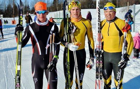De tre raskeste i «Kjølen hematt» 2016. Fra venstre: Kjetil Tyrom, Magnus Bleken og Geir Strandbakke.