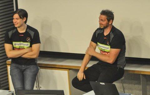 TEMAMØTE: Thomas Solstad (tv) og Jan Thomas Lauritzen var i panelet på temamøtet til Olympiatoppen Øst.