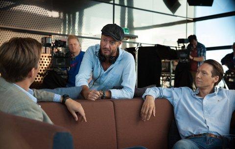EXIT: Regissør Øystein Karlsen under innspilling av sesong 1 av «Exit» som vises på NRK TV.
