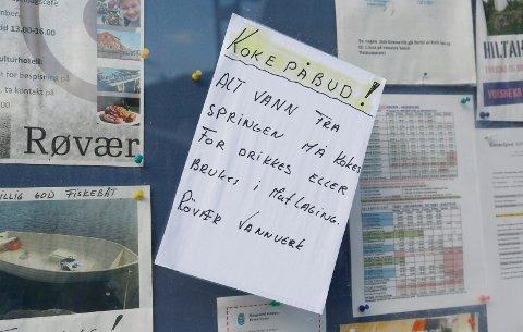 Vannet på Røvær må kokes. Foto: Alf-Robert Sommerbakk