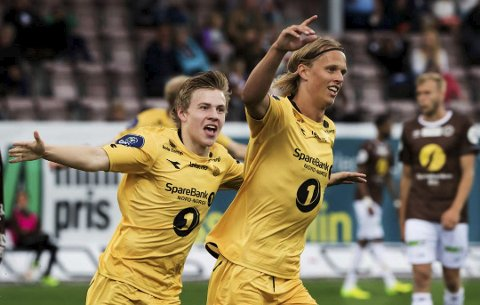 Tester kapten: Ulrik Saltnes fra Brønnøysund får forsøke seg som kaptein når Bodø/Glimt spiller treningskamp i Stockholm. Foto: Terje Bendiksby NTB/scanpix