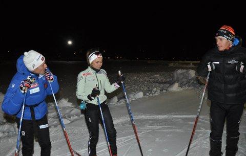 Finn Hågen Krogh (til venstre), Emilie Kristoffersen og Petter Eliassen skal alle delta under sesongåpningen på Beitostølen til helgen.